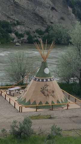 Cody Trout Ranch Camp Elk Tipi