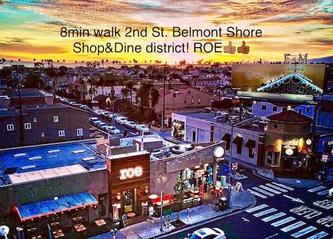 Belmont Shore, Long Beach 35 STEPS BEACH