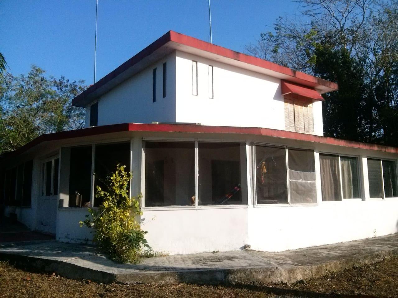 Eco-rancho Sur casa de campo completa 3 habitaciones cuádruples   Seguro, silencioso, tranquilo y ecológico