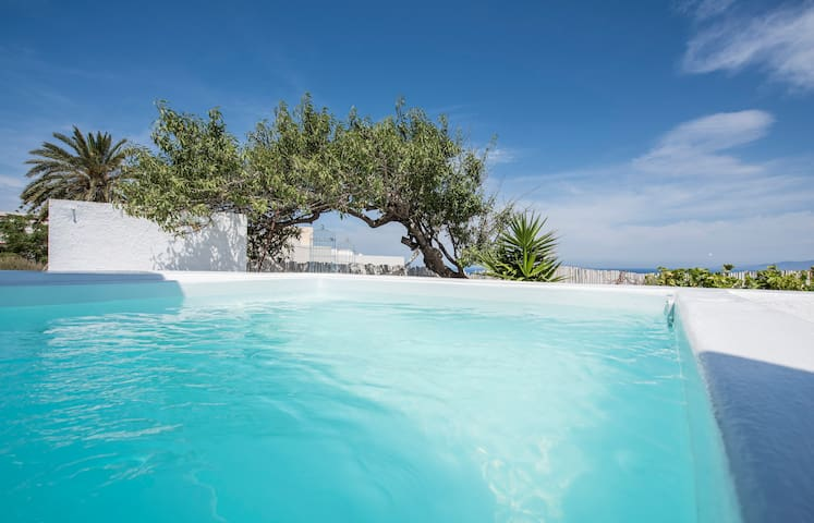 Captain's blue villa with pool - Oia - House