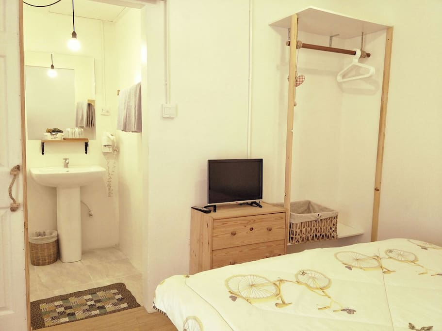The bedroom with private bathroom consist of everything you may need for your pleasant stay