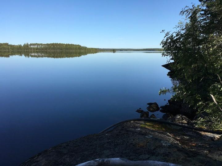 Suomalaista järvimaisemaa parhaimmillaan