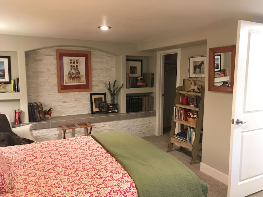 This is the best room in the house...warm and comfy in the winter, cool in the summer!