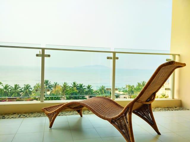 三亚湾梦幻海景两房,99步到海滩 - Sanya - Appartement