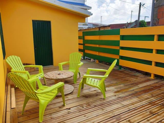 Pen haus Nær stranda & terrassen