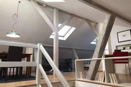 Bel appartement type loft illuminé + confortable