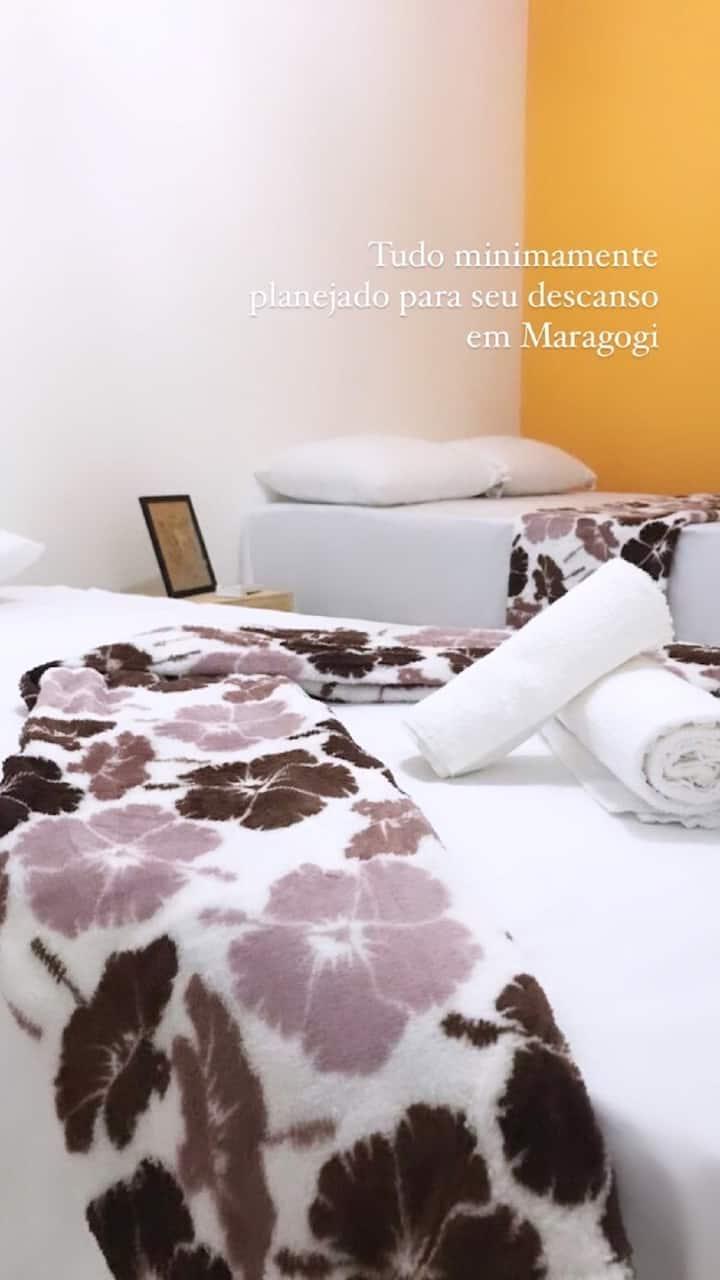 Quarto Quádruplo Pousada Flor de Maragogi Alagoas