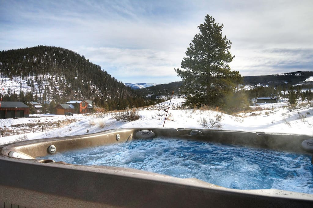 Enjoy amazing views from our  NEW luxury hot tub!