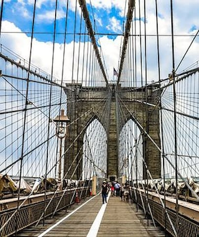 Famous Brooklyn Bridge, is approachable from the George Washington Bridge.