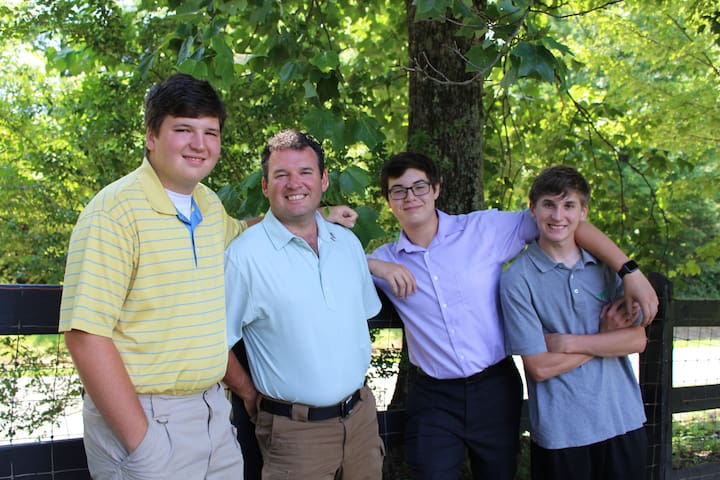 Me and my boys. Brandon, Matt, Joel and Luke.  Excellent young Men!  Very proud father.