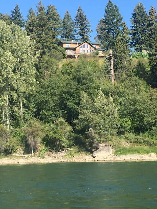 View of house from the river