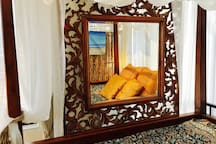 Antique Hand Crafted Mirror.