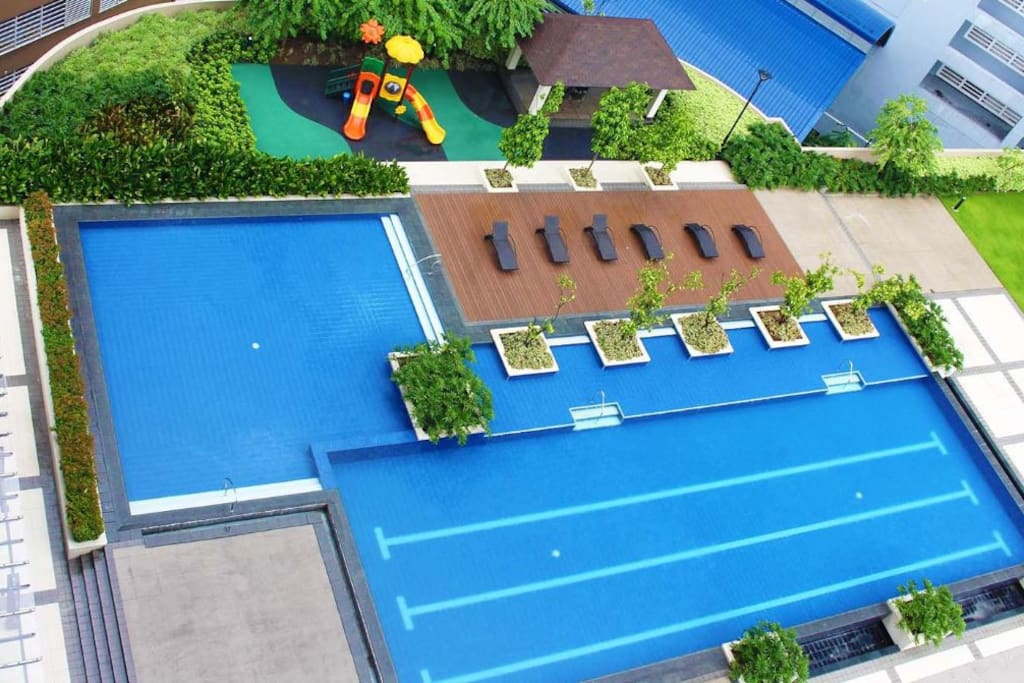 Pool top view