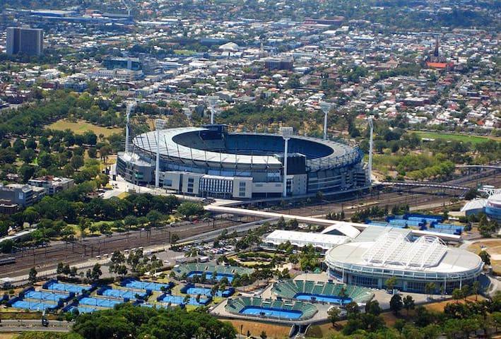 Melbourne Tennis Center - 10 minutes driving