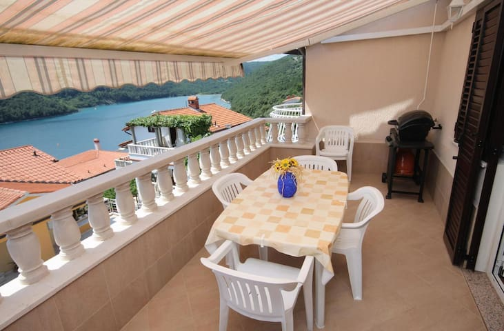 Two bedroom apartment with terrace and sea view Duga Luka (Prtlog), Labin (A-5528-b)