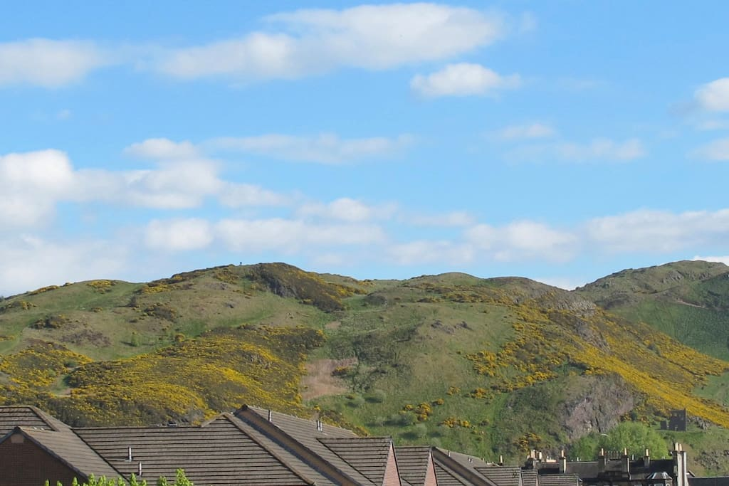 View to Arthur's seat and the Crags