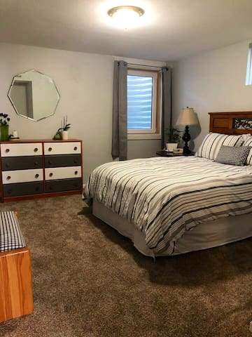 3rd bedroom in private basement apartment.