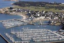 vue aérienne de Port Haliguen
