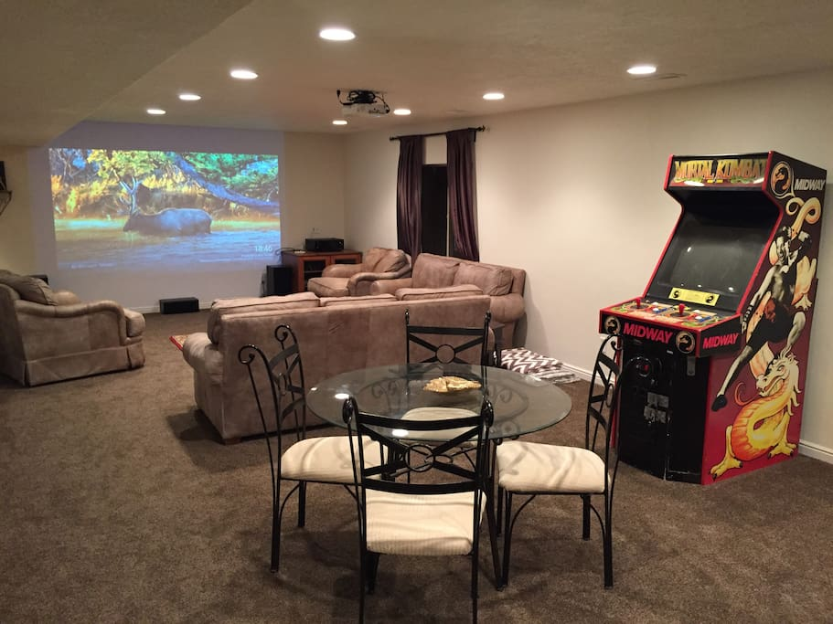 Fun luxury basement apartment with home theater flats for Utah basement