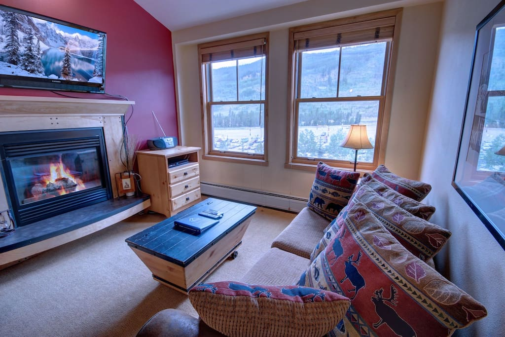 Unwind with the gas fireplace!