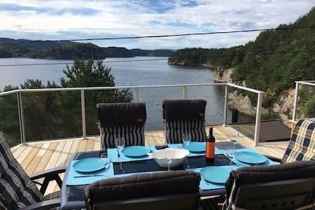 Austevoll, Ferienhaus Holmefjord, Fishing and fun! - Storebø - Sommerhus/hytte