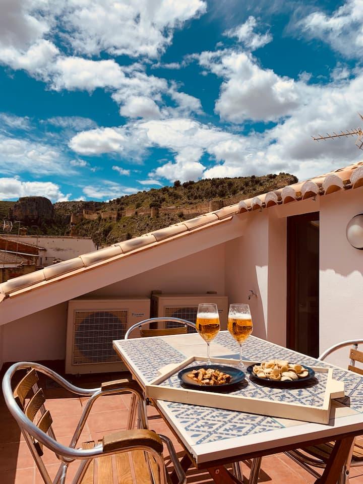 Acogedora casa de pueblo con terraza.