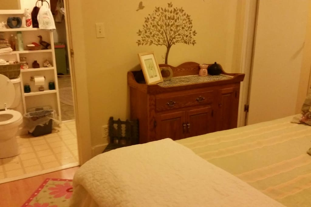 Double bed - shared bathroom