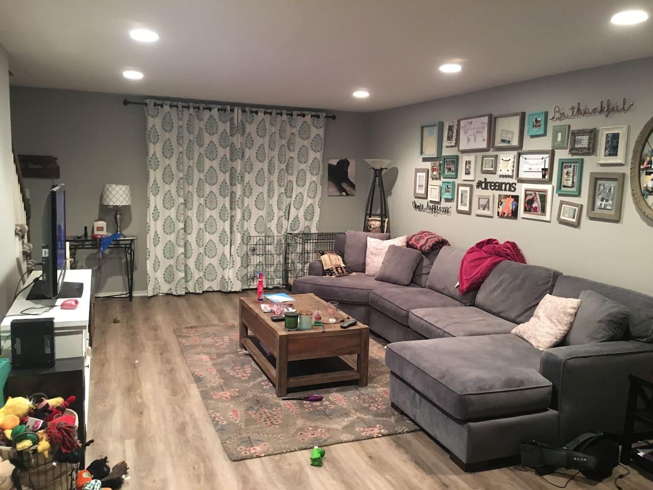 Cozy living room/common area