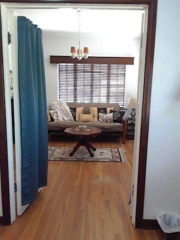 Bedroom 3 aka the Zen Den has new queen size futon for guests beyond 6.  view from Master Bedroom