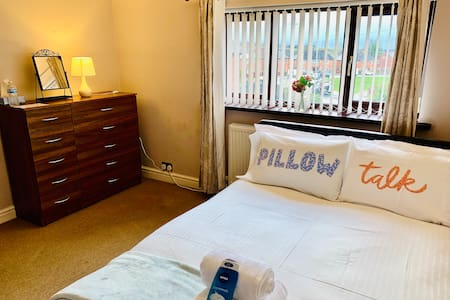**Double Luxurious Bed-Quiet and Convenient**