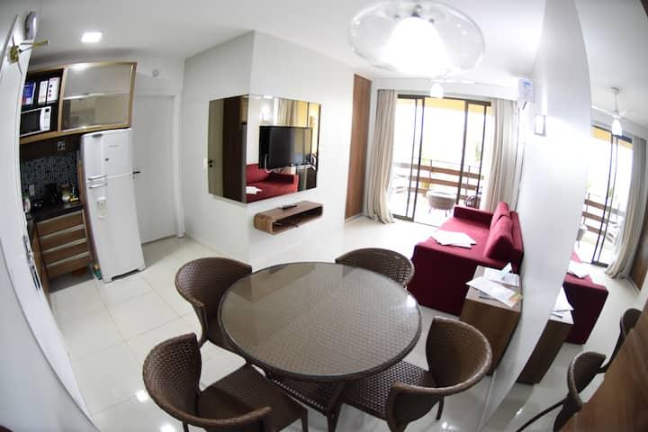 Resort Suítes - Apto III Confortável VISTA MAR