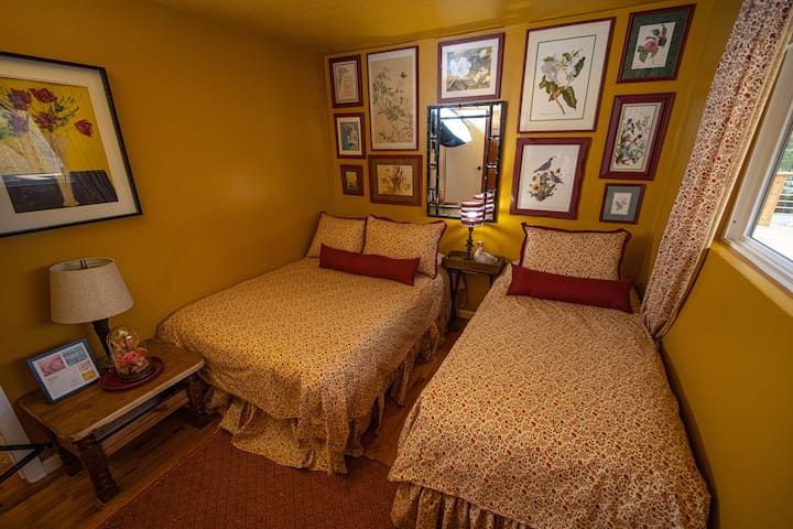 Bedroom #4. Has a Full Bed and a Twin Bed.