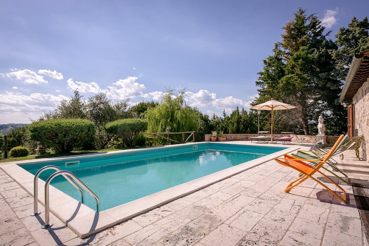 Villetta with swimmingpool, only 1km from Rapolano