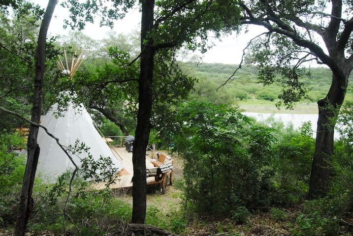 The view of the Tee Pee from about half way down the hill