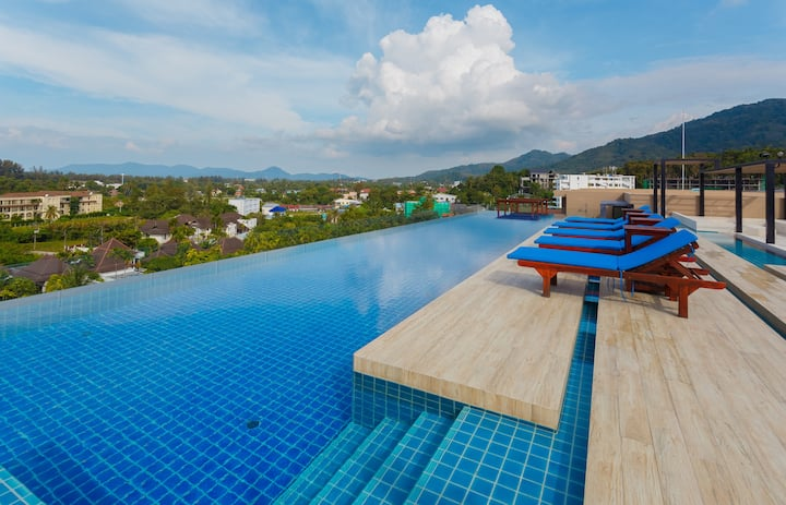 Wonderful quiet studio in the Aristo condo. 3 pools ❤️ Surin Beach (202)