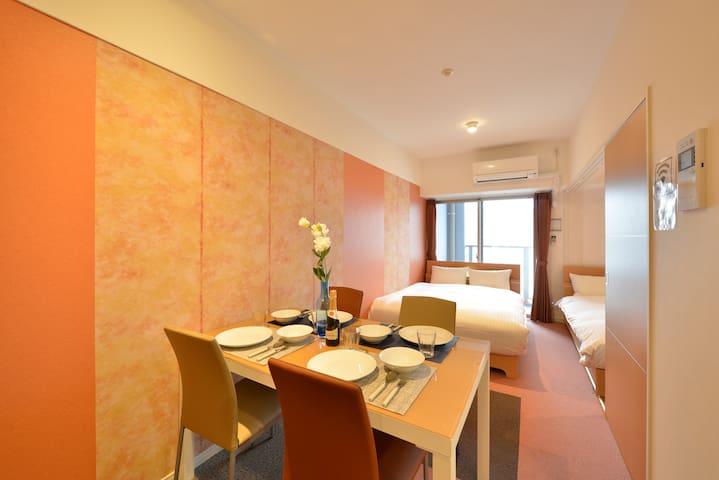 RH8-08) Weekly★2 Double Bedroom in hakata