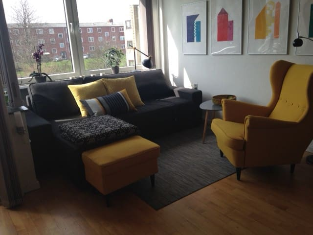 Charming 1 room apartment w. balcony - Rødovre - Apartamento