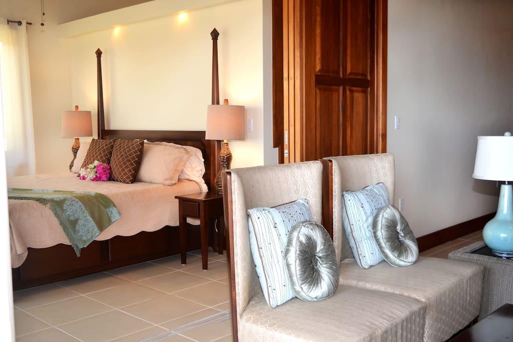 Master Bedroom separation with sliding door
