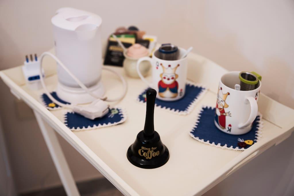 Tea-coffee facilities in camera