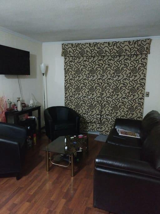 Sala de estar, cuenta con sofá cama 2 plazas