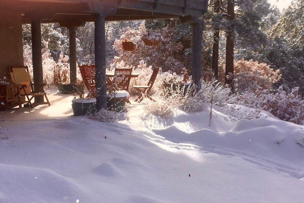 Portale in the snow.