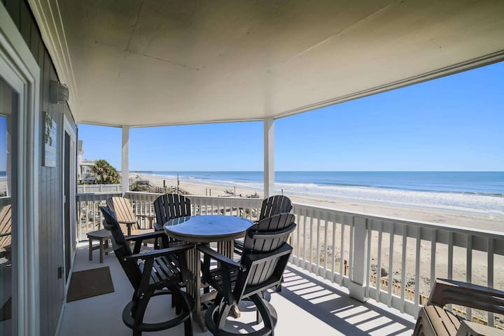 The Beach is Right Off Your Balcony! First Floor 3BR, One of Only Six!