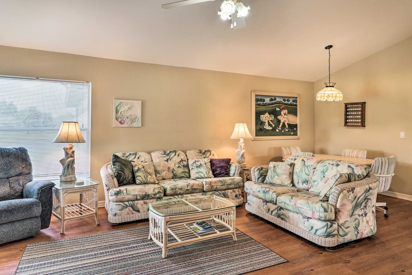 With 3 bedrooms and 2 baths, your group of 6 can comfortably unwind each night.