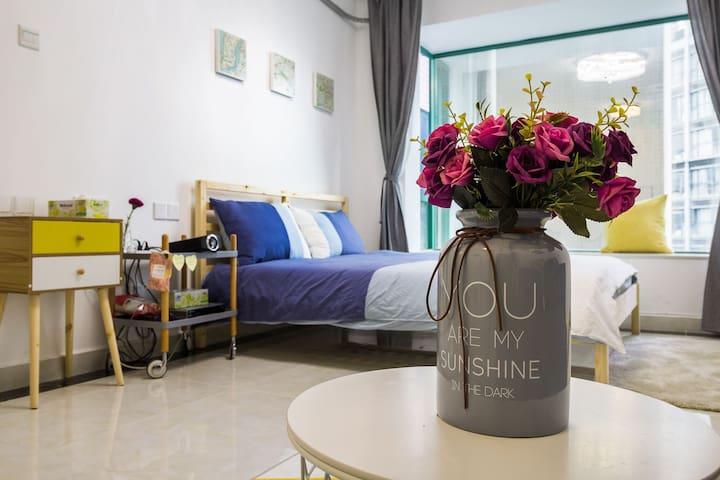 天飞#宜家风整套一居室#近香港 购物公园酒吧街 车公庙 Cocopark#高层Cozy flat