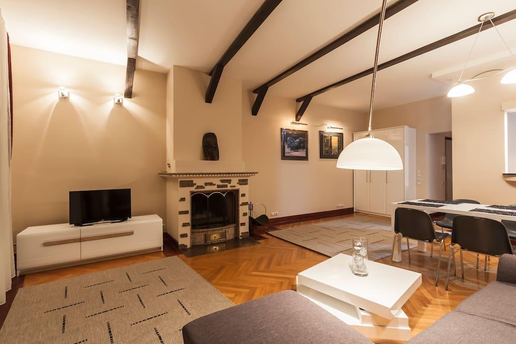 Apartment Fireplace Belgrade Vracar
