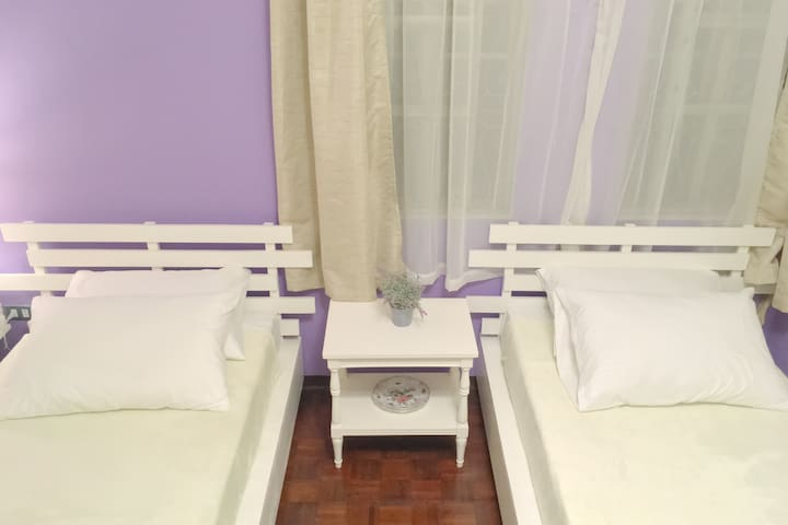 Pink Room - 2 single beds for 2 pax