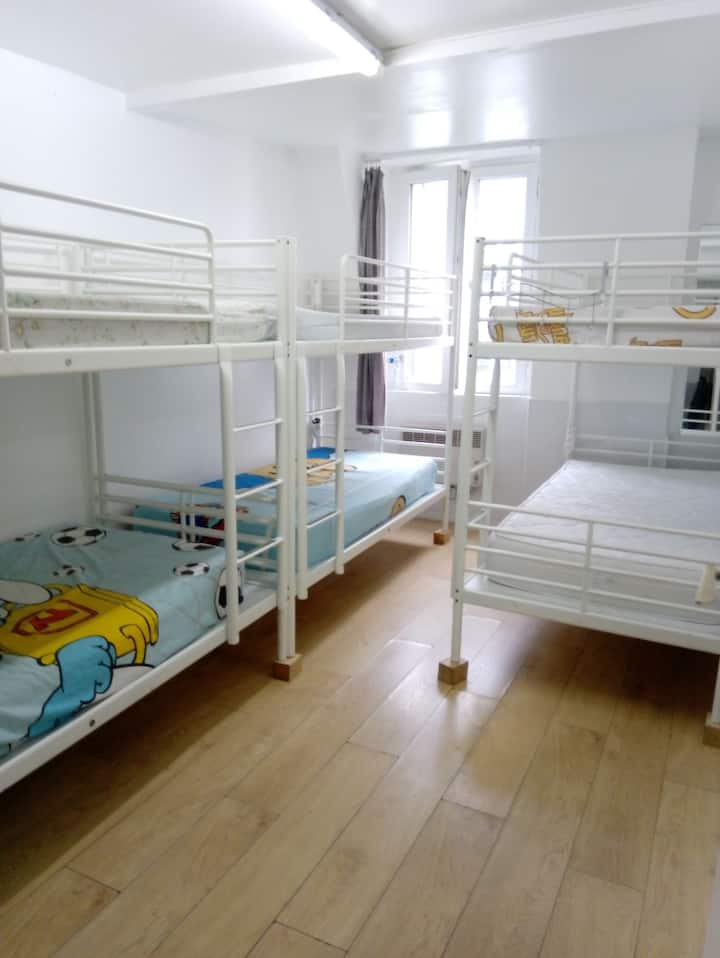 402--1 bunk in Paris city center room