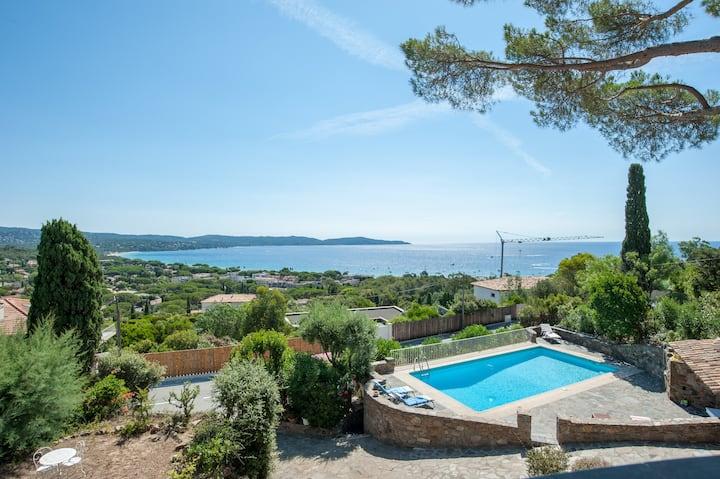 Sea view villa in Cavalaire-sur-Mer