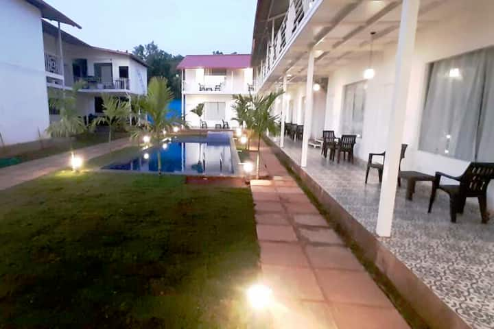 North Goa 3 Star Resort with Pool. Morjim Bliss