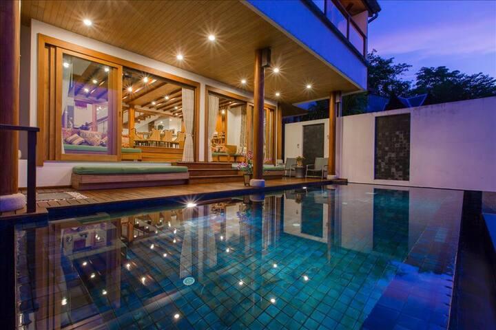 Luxury Art villa on Surin hill, sea view and private pool - Surin Beach - Villa